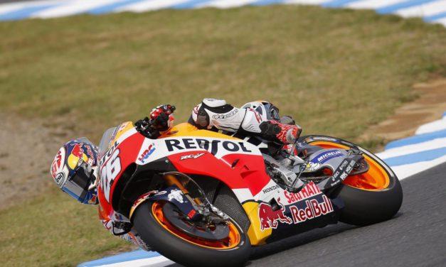 Practice crash eliminates Pedrosa