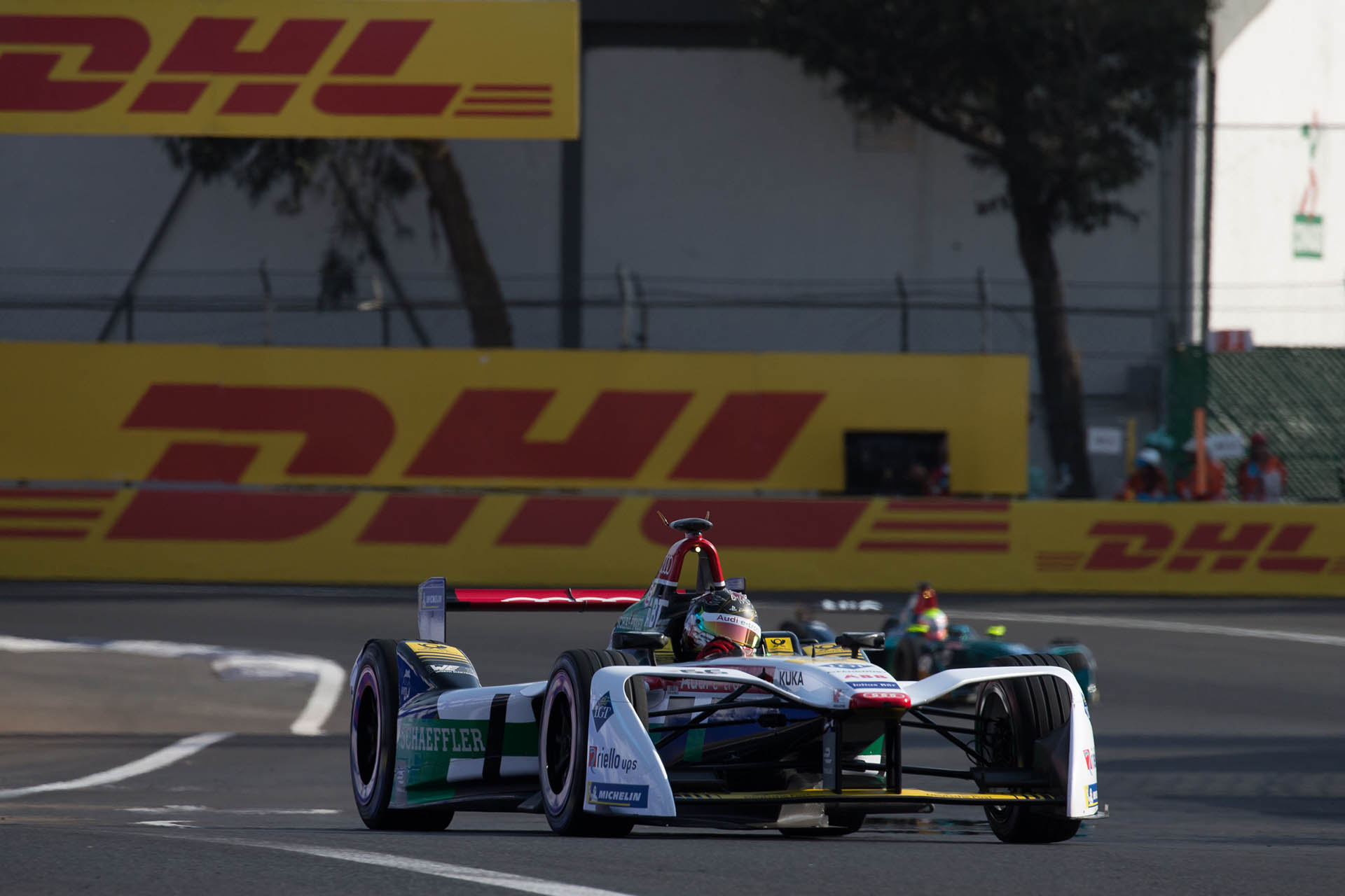 Daniel Abt on his way to victory in Mexico City