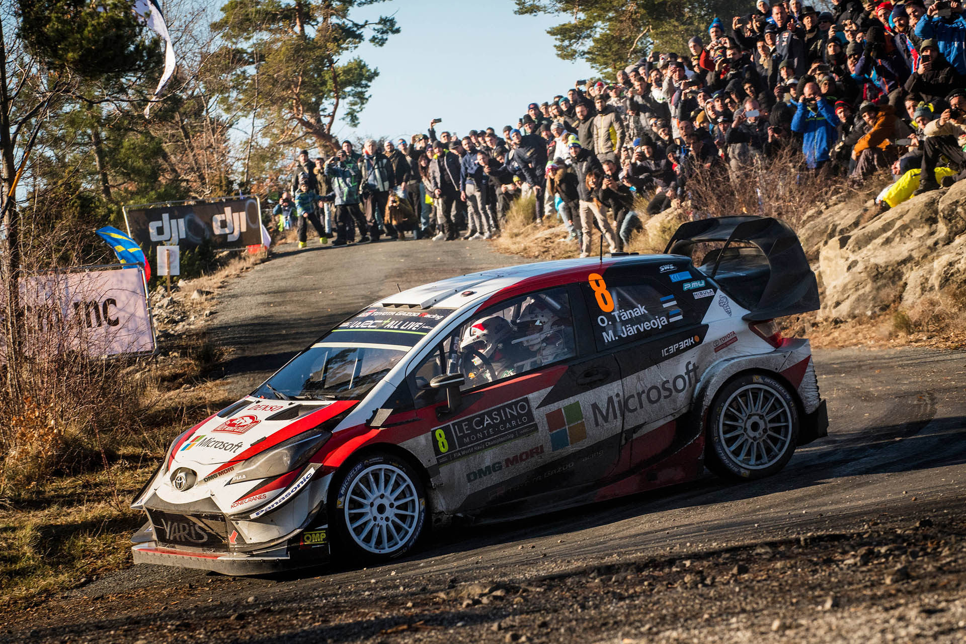 Ott Tanak and Martin Jarveoja on their way to second place